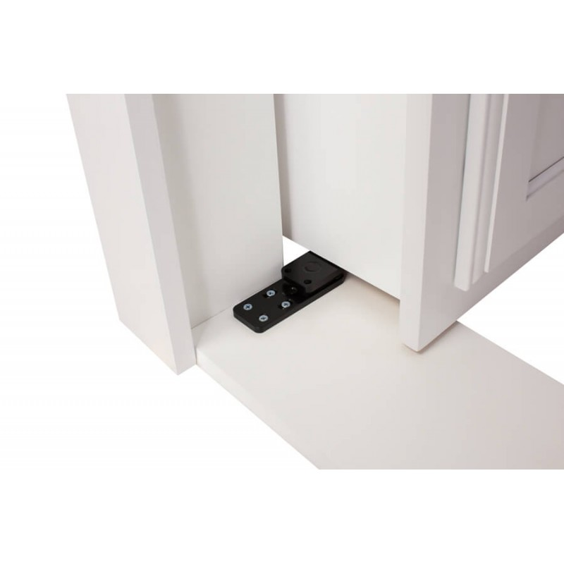 Flush mounted hidden door hinge kit the murphy door - Hidden hinges for exterior doors ...
