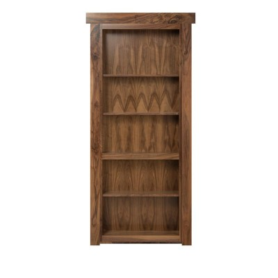 "30"" Walnut Bookcase w/ Clear Finish (Not a Door)"