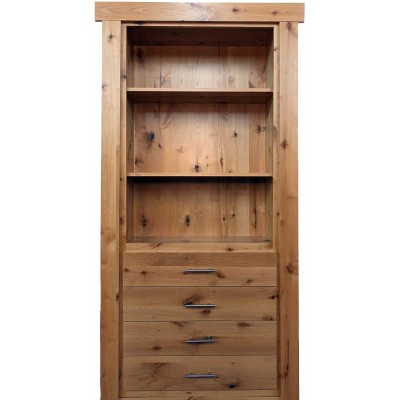 "36"" Clear Alder Flush Mount Dresser Door"