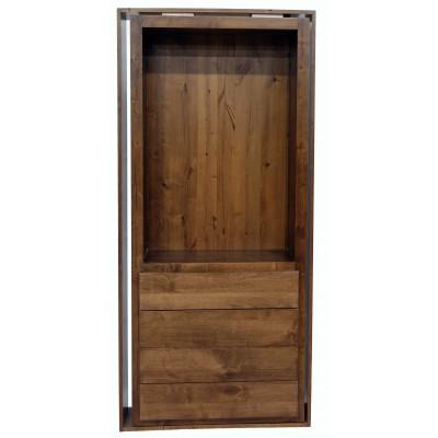 "36"" Medium Alder Flush Mount Dresser Door"