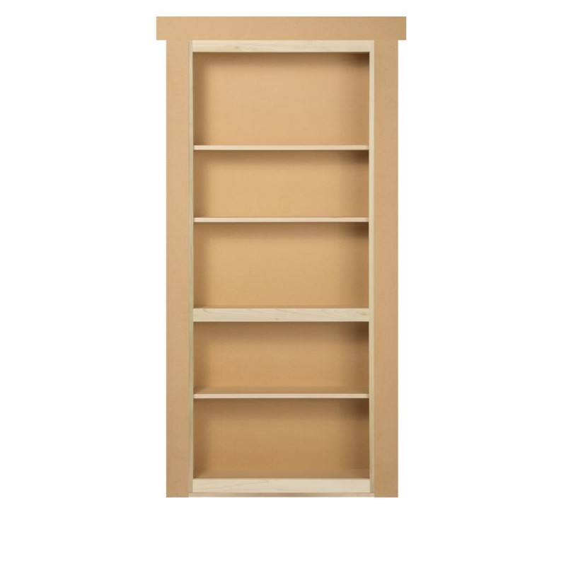 30 Quot Paint Grade Flush Mount Bookcase Hidden Door