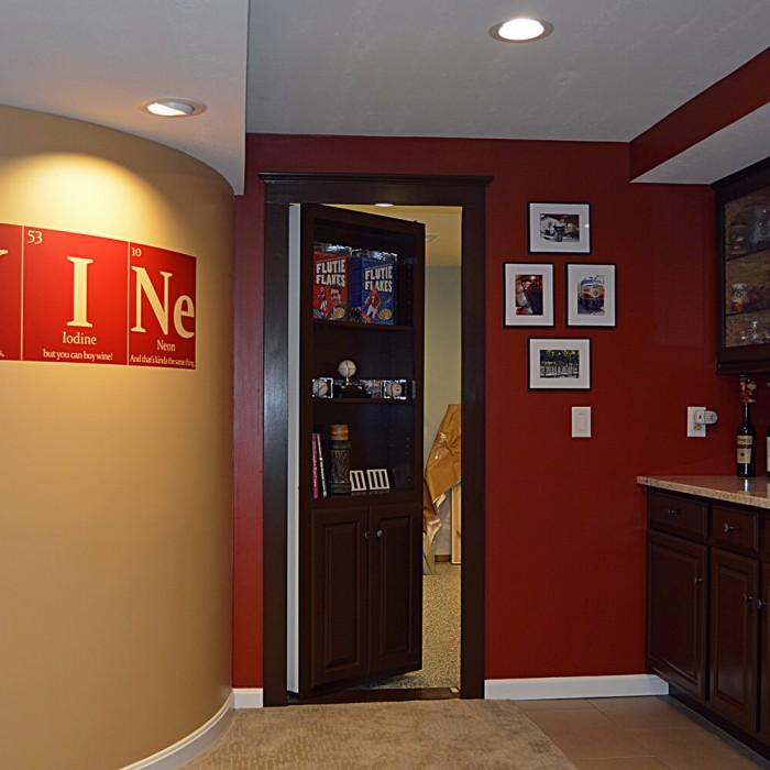 Flush Mount Cabinet Door Package Hidden Door | The Murphy Door