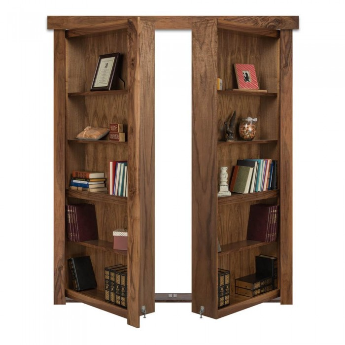 Flush Mount French Style Hidden Bookcase Door