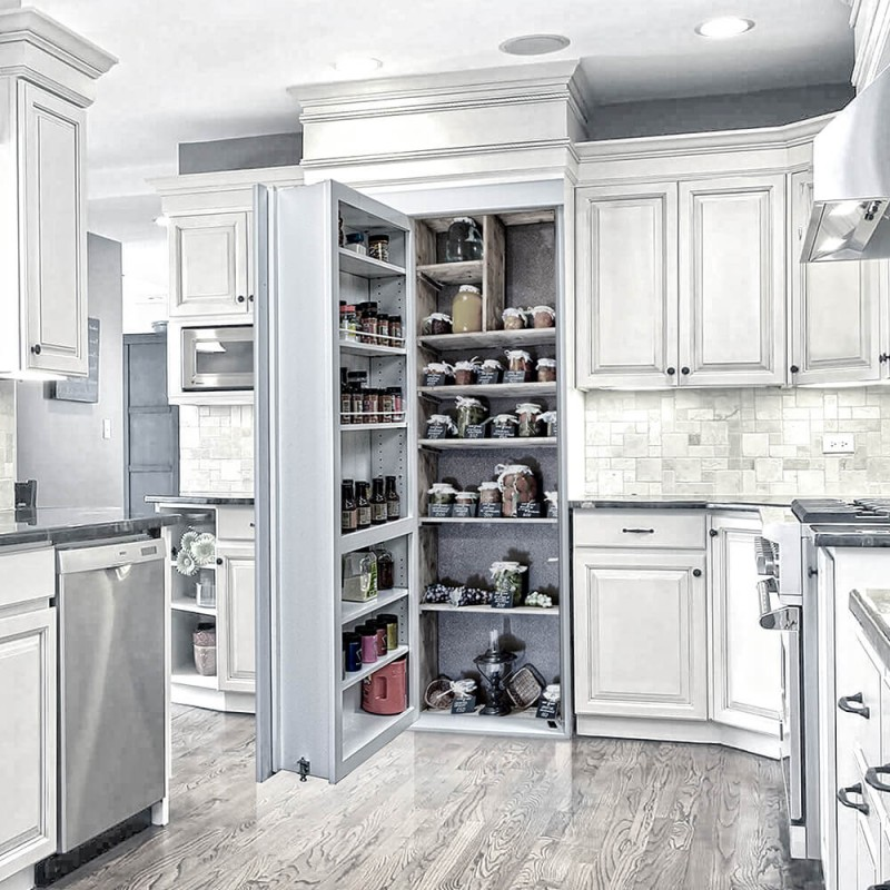 Open Kitchen Door Design: Pantry Door (Reversed)