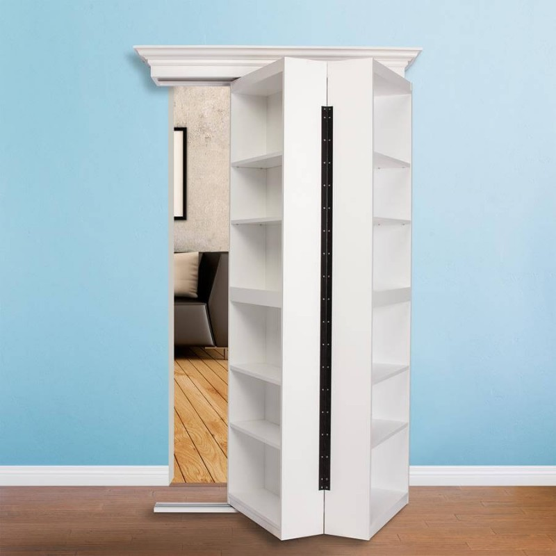 Bi Folding Paint Grade Bookcase Door Murphy Door
