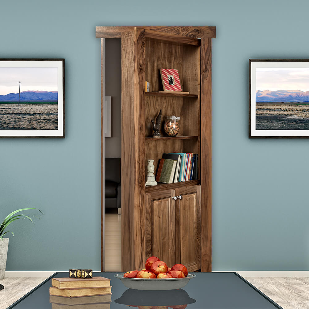 Flush Mount Hidden Bookcase Door & Murphy Door Store | Hidden Door Bookshelves Hardware u0026 More