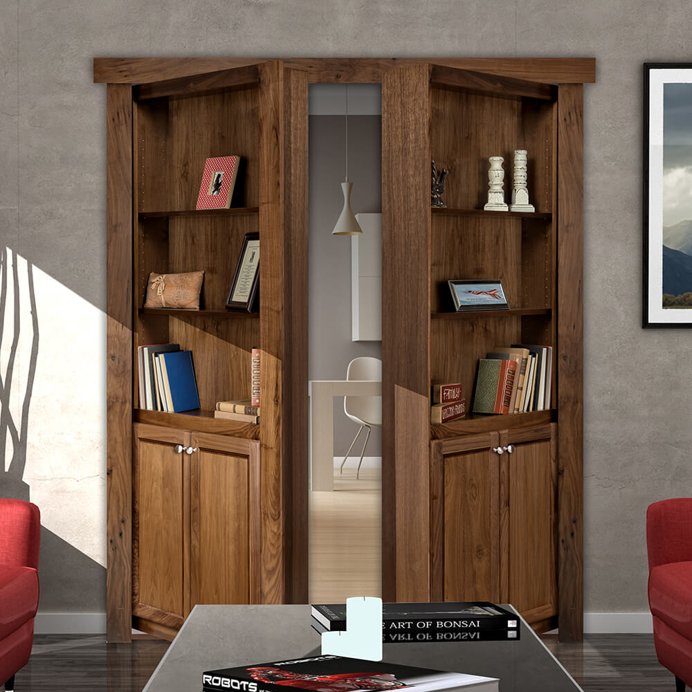 Flush Mount French Style Hidden Bookcase Door & Murphy Door Store | Hidden Door Bookshelves Hardware \u0026 More