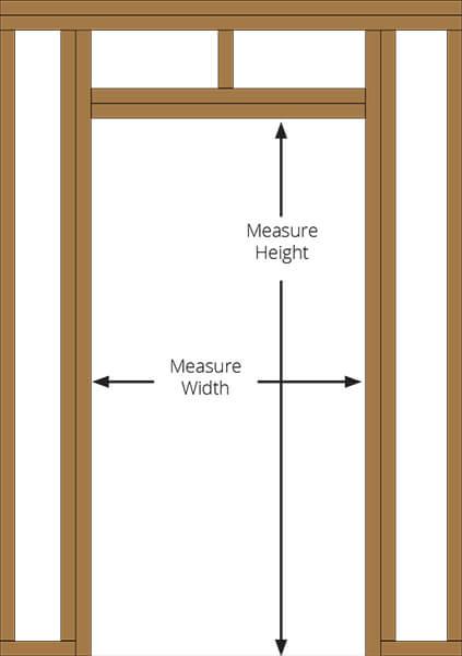 Pantry door reversed murphy door - 32x80 exterior door rough opening ...