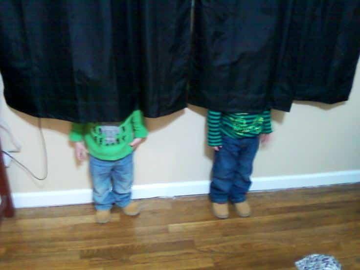 Adults Playing Hide & Seek