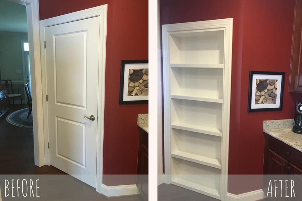 Before and After Installation of The Murphy Door by a Customer