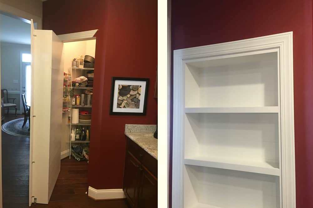 Pantry in Kitchen turned into Murphy Door by customer