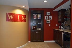 hidden door for wine cellar