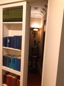 hidden doorway for wine closet