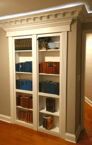 bookshelf hidden door