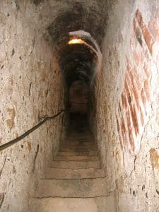 Image of a secret passageway located inside Bran Castle