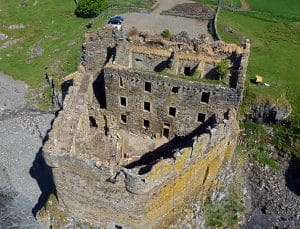 Aerial view of Mingary Castle