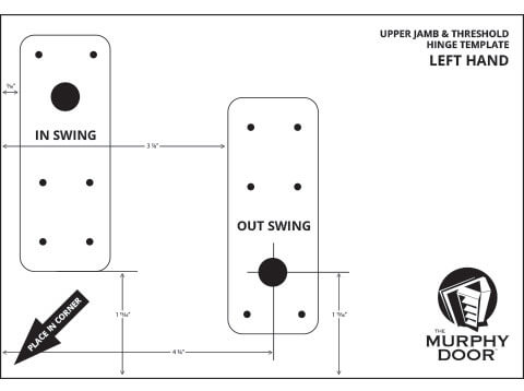 Upper Jamb \u0026 Threshold - Flush Mount Left Hinge Template  sc 1 st  Murphy Door & Upper Jamb \u0026 Threshold Hinge Templates | Murphy Door