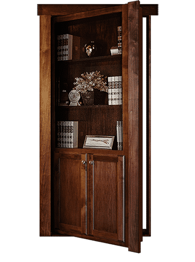 Flush Mount Hidden Bookcase Door Model