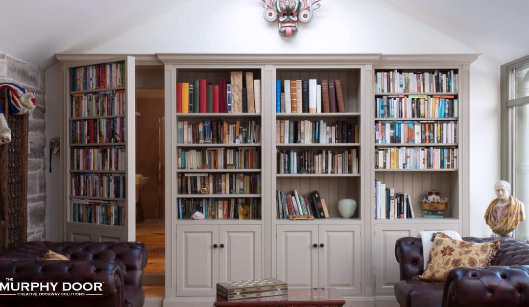 Styling Your Bookcase And Concealing Your Murphy Door