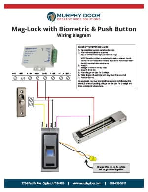 mag-lock w/ biometric & button  wiring diagram