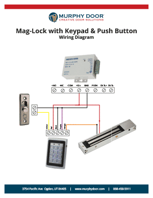 magnetic lock support murphy door rh themurphydoor com door lock wire diagram door lock wiring diagram