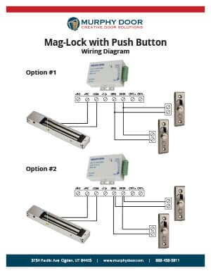 magnetic lock support murphy door rh themurphydoor com magnetic lock kit wiring instructions magnetic lock wiring instructions