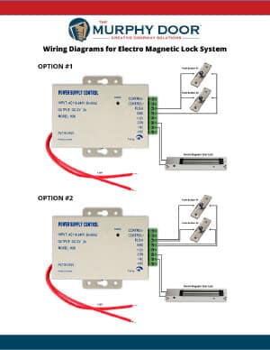 magnetic door lock wiring diagram magnetic lock support | murphy door