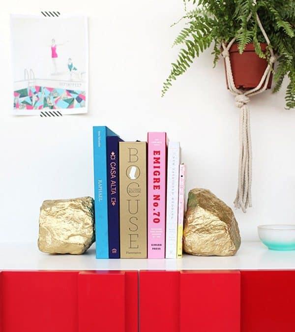 Trendy DIY Bookends for Your Hidden Bookcase Door